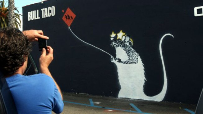"""Banksy"" Rat Spotted, Then Tagged"