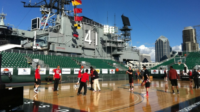Battle on the Midway Moved to Sunday