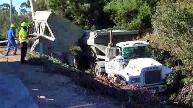 Big Rig Crashes at SR 15, I-805