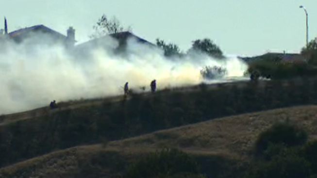 Firefighters Tackle Two-Acre Brush Fire