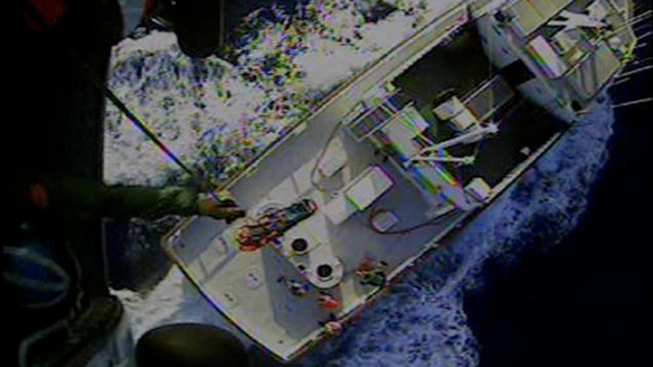 Coast Guard Rescues Man from Fishing Boat
