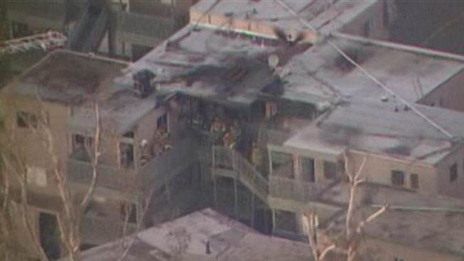 Fire Crews Tackle City Heights Apartment Fire