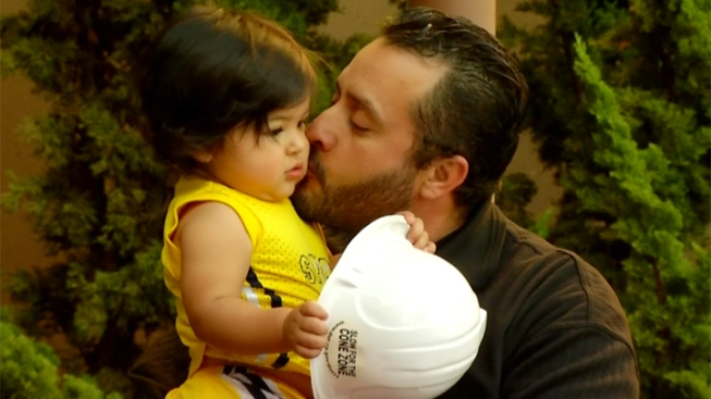 Caltrans Hero Reunited with the Toddler He Saved