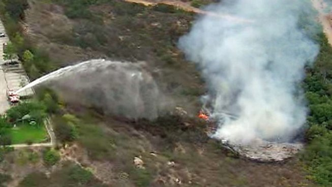 Fire Burns in Vista Canyon