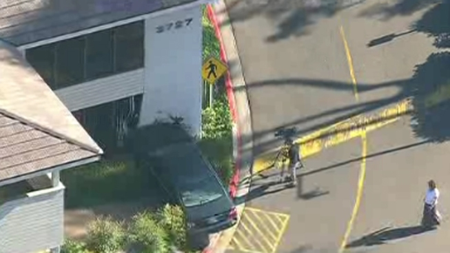 Car Crashes Into Building in Mission Valley