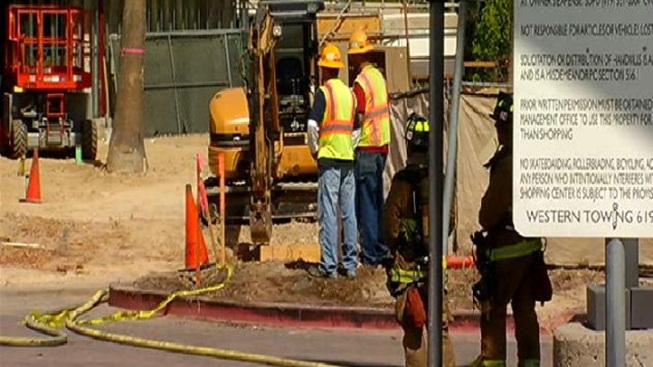 Gas Main Break Forces Mall Evacuation