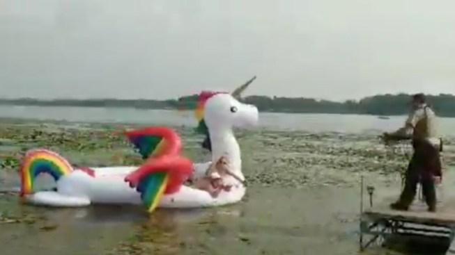 Minnesota Deputies Reel in Women Stranded on Waterborne Unicorn