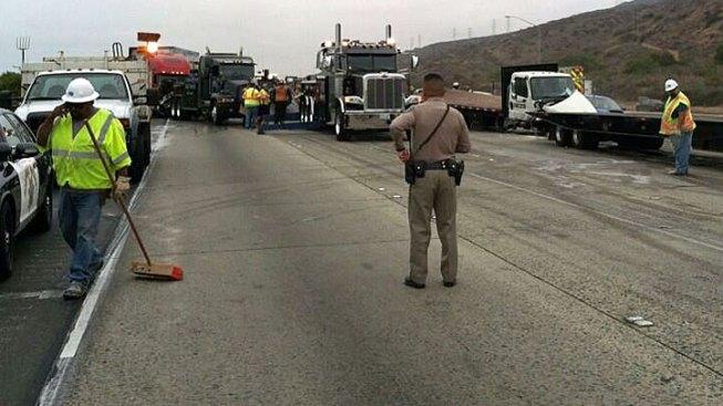 Propane Tanker Crash Closes SB I-5 at Scales