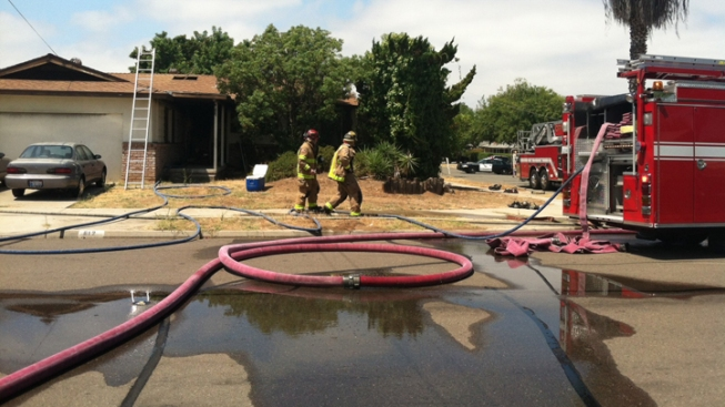 El Cajon Home Catches Fire