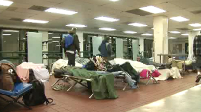 Emergency Homeless Shelter Opens for Chilly Weekend