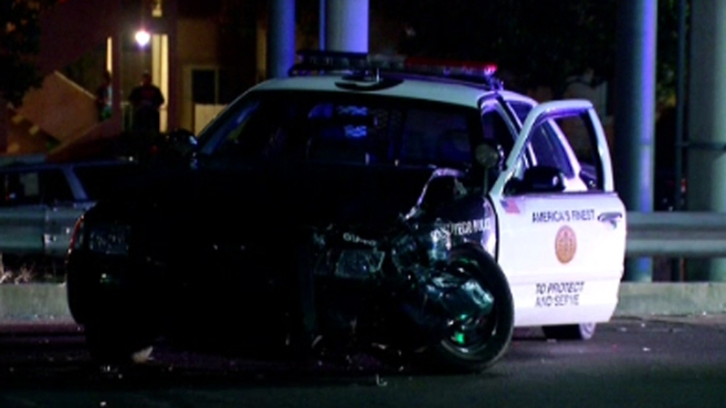Police Cruiser Involved in Encanto Crash