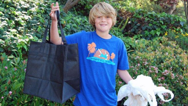 La Jolla Boy Wants to Ban Plastic Bags