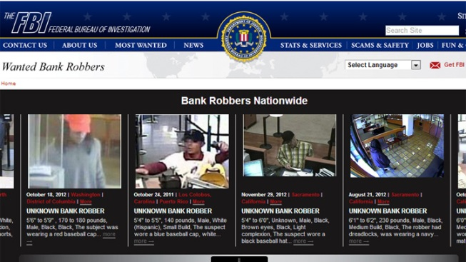 FBI Cracks Down on Bank Robberies with Website
