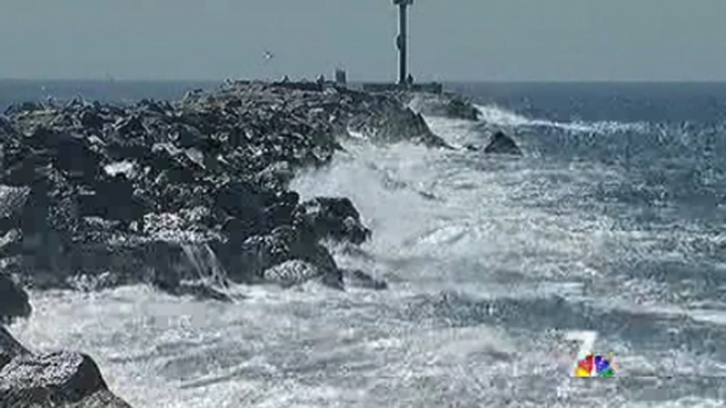 High Surf Prompts Beach Rescues