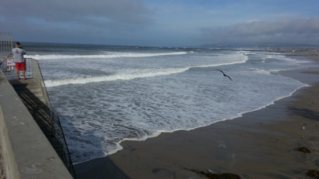 High Surf Hits Local Beaches
