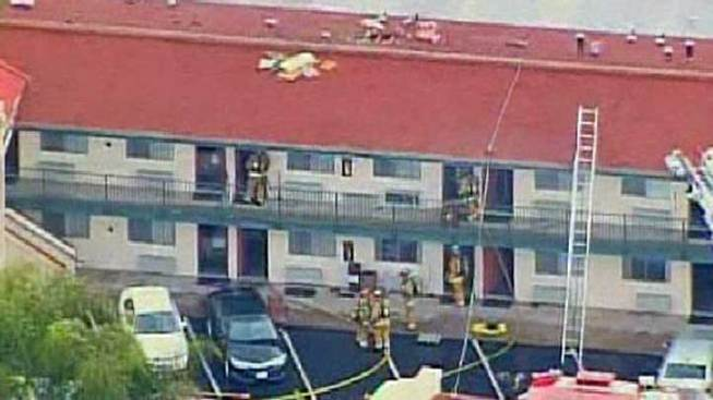 Fire Damages Hotel Near SDSU
