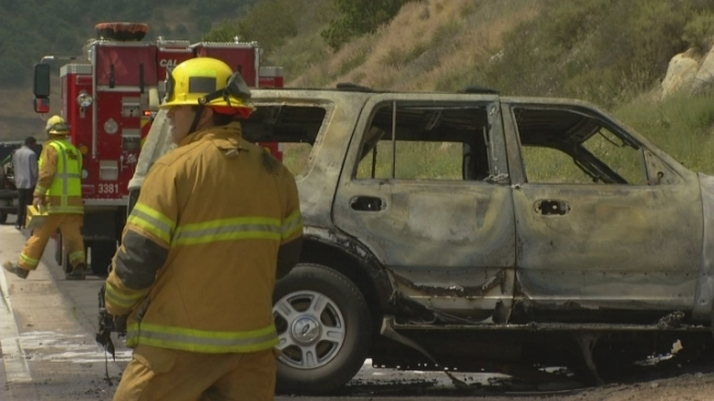 Hit and Run Vehicle May Have Caused Fiery I-15 Rollover