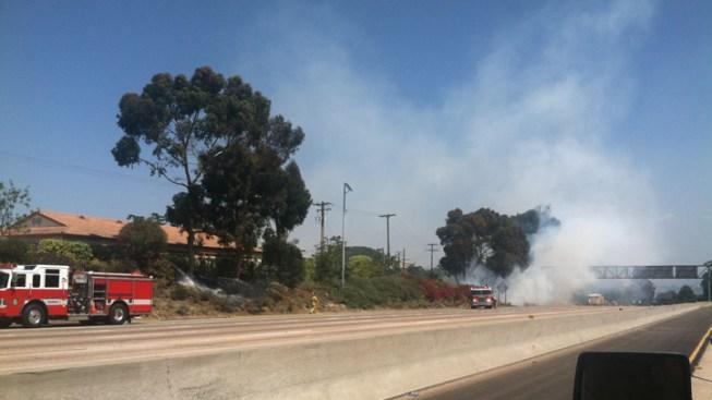 Brush Fires Burn Near I-8
