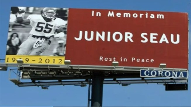 Junior Seau Billboard Tribute Pops Up in Oceanside