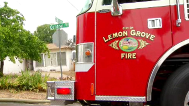 Lemon Grove Home Goes Up in Flames
