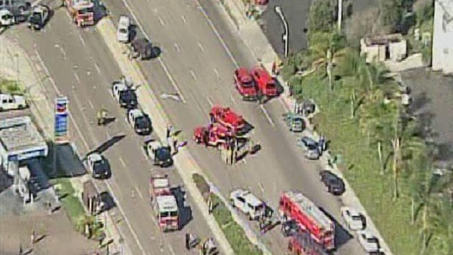 Seven Injured in Multi-Vehicle Crash