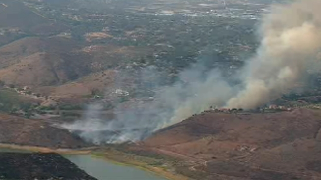 Crews Knock Down Brush Fire at Lake Hodges