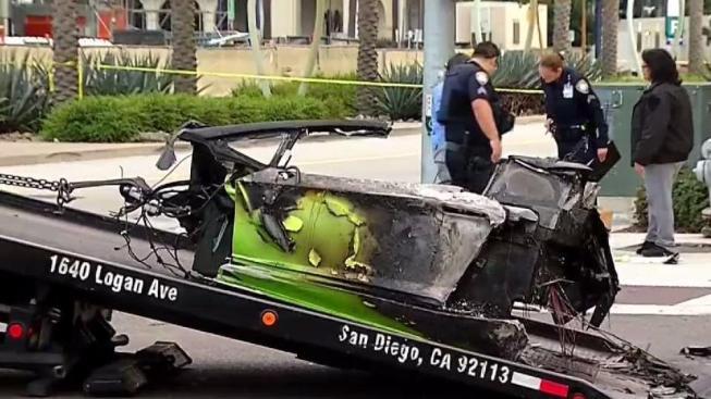 driver in fiery lamborghini crash was awaiting sentence on fraud