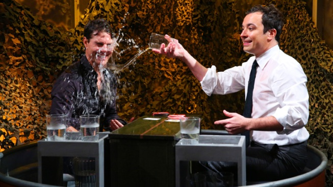 "Tom Cruise Reveals ""Worst Injury"" From Jack Reacher, Gets Wet on ""Late Night"""