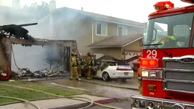 Garage Catches Fire Near Imperial Beach