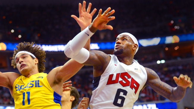 LeBron, Team USA Beat Brazil in Pre-Olympic Match-Up