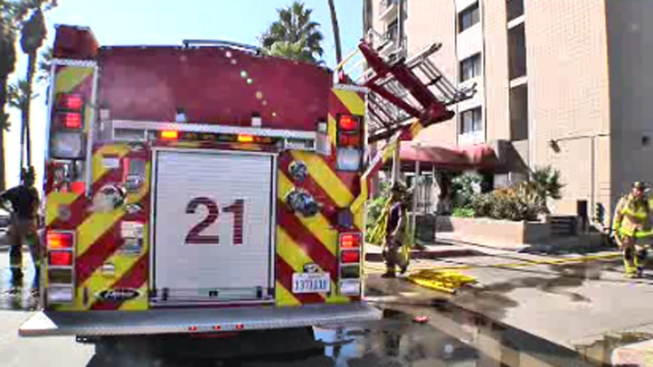 Fire Sparks at Pacific Beach Complex