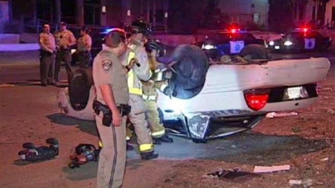 Two Injured in Rollover Crash in Lemon Grove