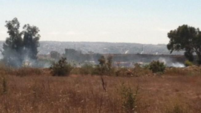 Brush Fire Burns in San Ysidro