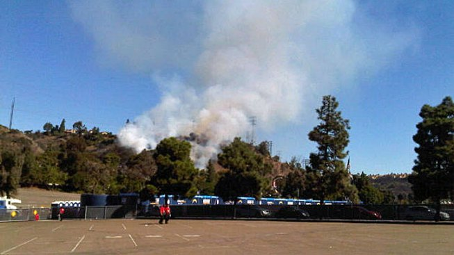 Brush Fire Reported in Mission Valley