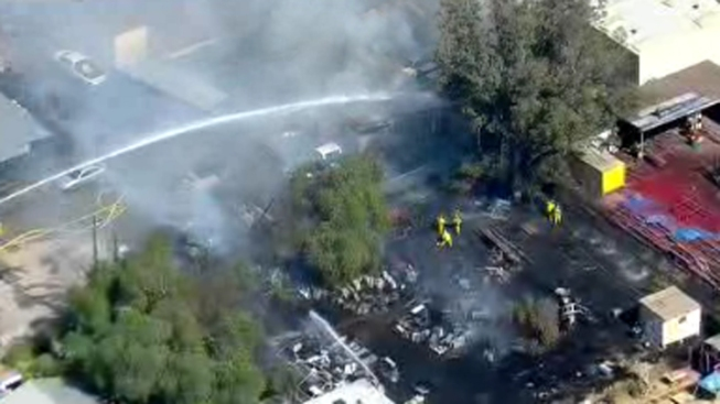 Crews Battle Fire in Santee