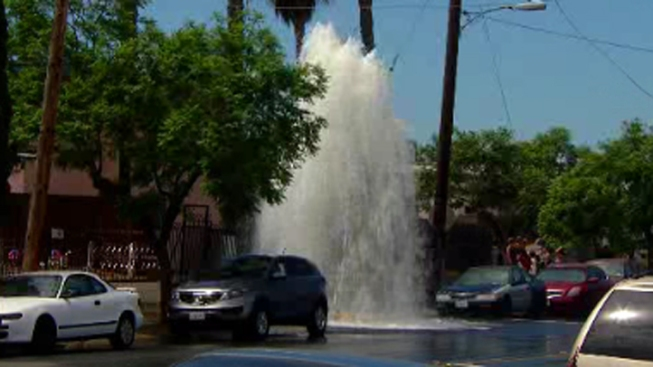 Sheared Hydrant, Geyser Cause Power Outage