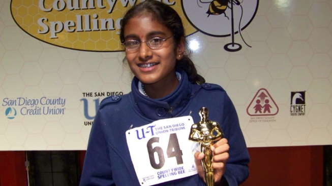 7th Grader Wins San Diego County Spelling Bee