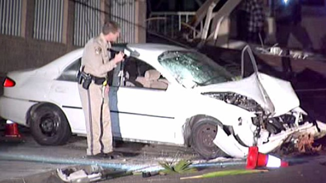 Hit-and-Run Driver Slams into Utility Pole