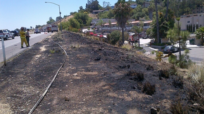 Firefighters Tackle Blaze Off SR-94