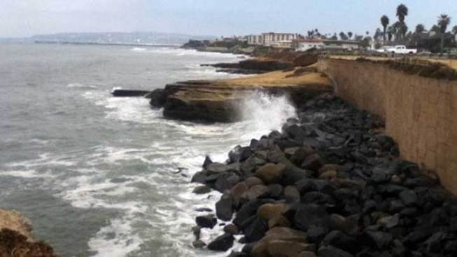 Lifeguards Rescue Woman at Sunset Cliffs