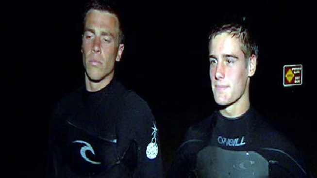 Surfers Rescue Man Trapped by High Tide