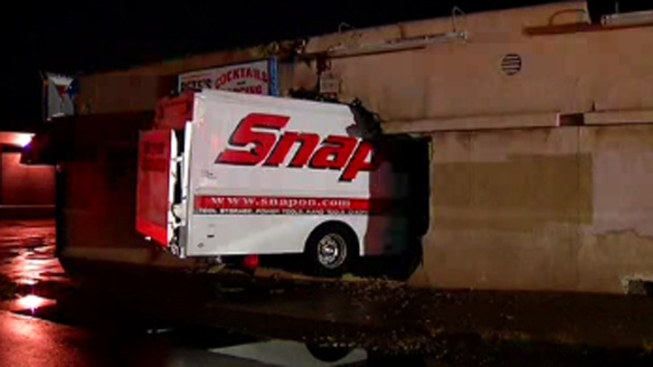 Truck Slams into Bar, Hits Hydrant