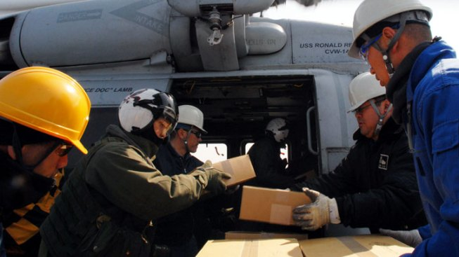 Local Sailors Deliver Tons of Supplies