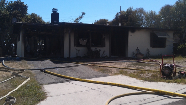 Vista Home Catches on Fire
