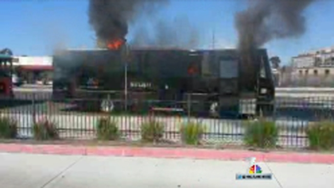 Wedding Party Bus Bursts Into Flames