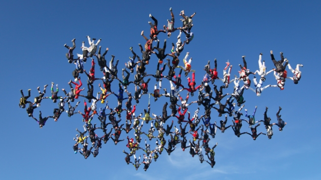 Local Skydivers Help Break World Record