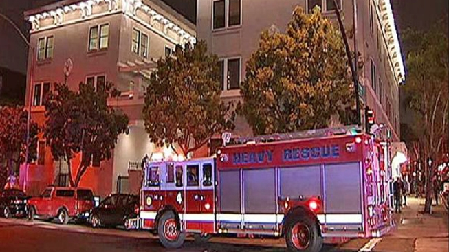 Fire Breaks Out at Banker's Hill Hotel
