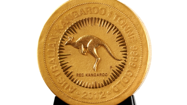 Australian Mint Turns Out 1-Ton Gold Coin