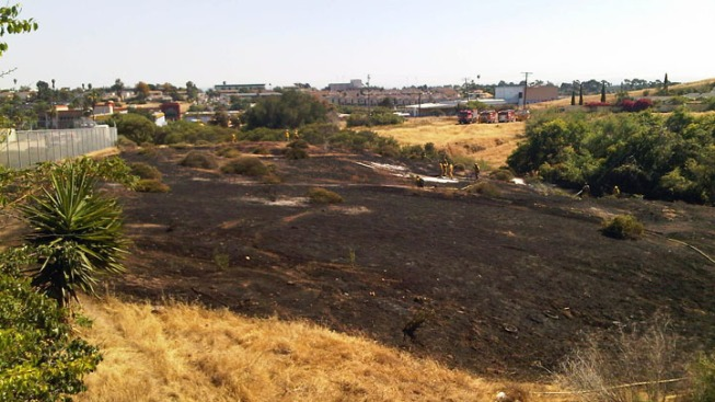 Bonsall Brush Fire Extinguished