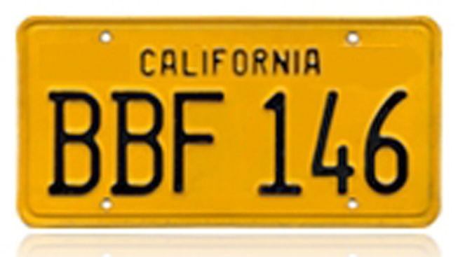 DMV to Sell Vintage California License Plates